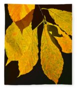 Fall's Purest Gold Fleece Blanket