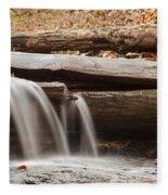 Falls Through A Tree Fleece Blanket