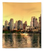 False Creek Triptych Centre Panel Fleece Blanket