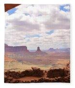 False Kiva Scenery Fleece Blanket