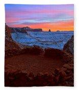 False Kiva Sunset Fleece Blanket