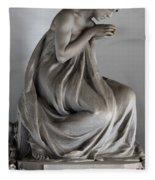 Famiglia Meretti Grave Marker Monumental Cemetery Milan Italy Fleece Blanket