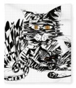 Family Cat Fleece Blanket