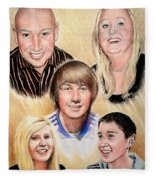 Family Collage Commissions Fleece Blanket