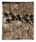 Family Portrait Before The Hunt-featured Picture In Large Dogs Only Group Fleece Blanket