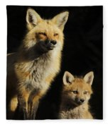 Family Portrait Fleece Blanket