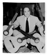 Famous Guitarist Carlos Montoya 1953 Fleece Blanket