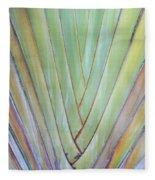 Fan Palm Abstract 2 Fleece Blanket