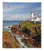 Fanad Lighthouse Donegal Ireland Fleece Blanket