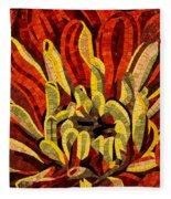 Fanciful Bold Floral Mosaic Fleece Blanket