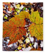 Fancy Fall Leaves Fleece Blanket