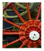 Fancy Tractor Wheel Fleece Blanket