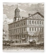 Faneuil Hall, Boston, Which Webster Fleece Blanket