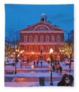Faneuil Hall Holiday- Boston Fleece Blanket