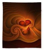 Fanfare Orange Fleece Blanket