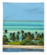Fanning Island Fleece Blanket