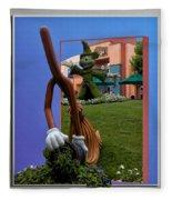 Fantasia Mickey And Broom Floral Walt Disney World Hollywood Studios Fleece Blanket
