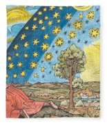 Fantastic Depiction Of The Solar System Fleece Blanket