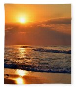 Fantastic Sunrise Colors Clouds Rays And Waves On Navarre Beach Fleece Blanket