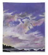 Fantastic Sunset North Shore Oahu Hawaii Fleece Blanket