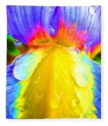 Fantasy Flower 4 Fleece Blanket
