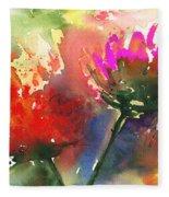 Fantasy Flowers Fleece Blanket