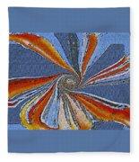Fantasy In Blue Fleece Blanket