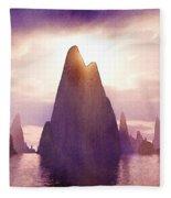 Fantasy Islands Fleece Blanket