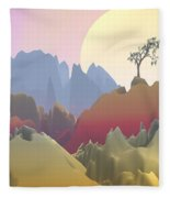 Fantasy Mountain Fleece Blanket
