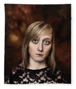 Fantasy Portrait Fleece Blanket