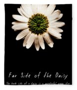 Far Side Of The Daisy Fractal Version Fleece Blanket