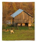 Farm At Sunrise Fleece Blanket