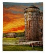 Farm - Barn - Welcome To The Farm  Fleece Blanket