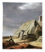 Farm Buildings In A Landscape, C.1625-28 Fleece Blanket