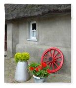 Farm Cottage Fleece Blanket