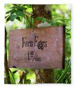 Farm Eggs Fleece Blanket