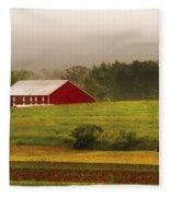 Farm - Farmer - Tilling The Fields Fleece Blanket