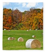 Farm Fresh Hay Fleece Blanket
