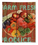 Farm Fresh Produce Fleece Blanket