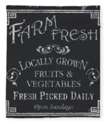 Farm Fresh Sign Fleece Blanket