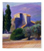 Farm House In Provence Fleece Blanket