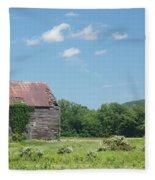 Farm House Fleece Blanket