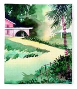 Farm House New Fleece Blanket
