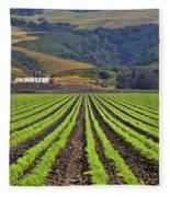 Farm Lands Of The Central Coast By Diana Sainz Fleece Blanket