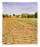 Farm Landscape Fleece Blanket