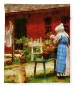 Farm - Laundry - Washing Clothes Fleece Blanket