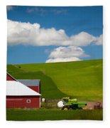 Farm Machinery Fleece Blanket