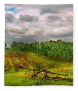 Farm - Organic Farming Fleece Blanket