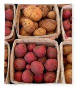 Farm Potatoes Fleece Blanket