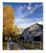Farm Road Fleece Blanket